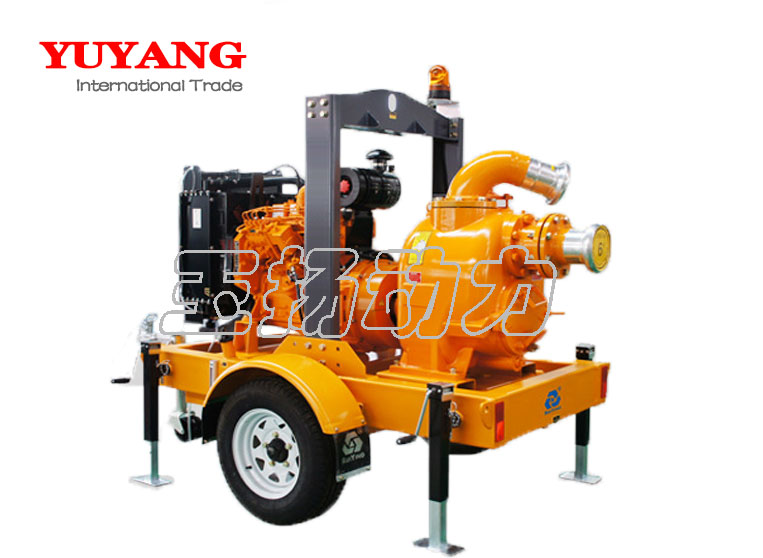 Mobile trailer water pump unit