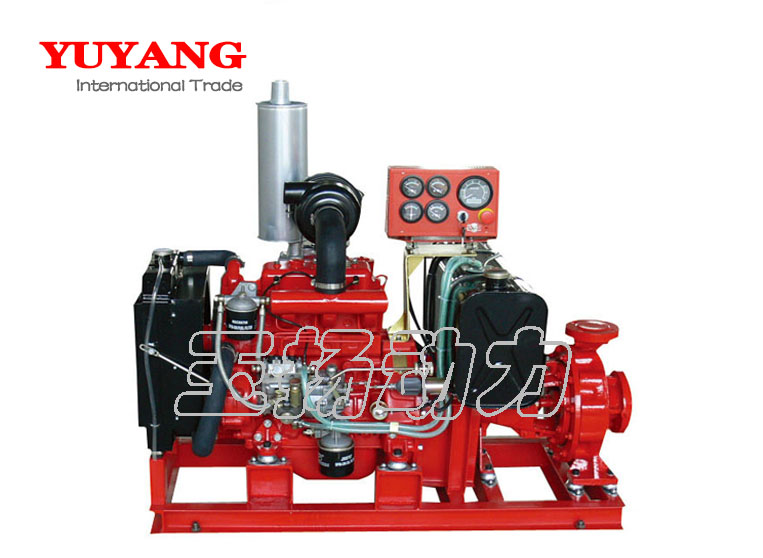 Mobile trailer type diesel pump set