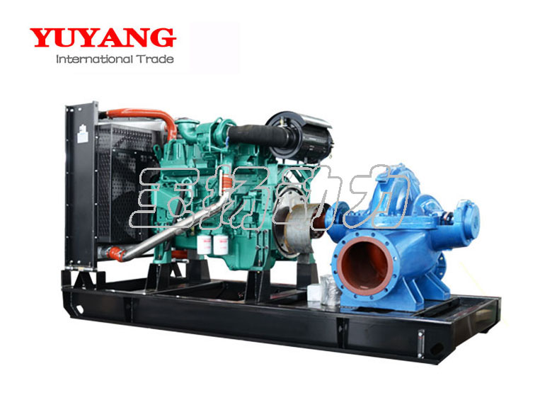 260kw diesel water pump for agriculture with weichai engine